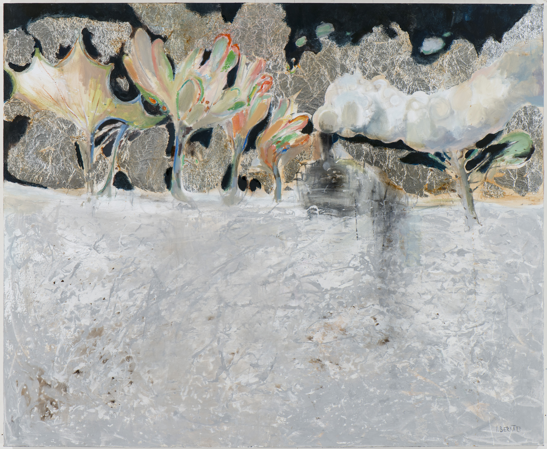 """Igors Bernāts """"Bezgalīgais brauciens"""". 2015, audekls, eļļa, 112×137 cm"""