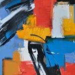 "Andris Vītols ""Mērsrags"". 2012, a/akrils, 100x80"