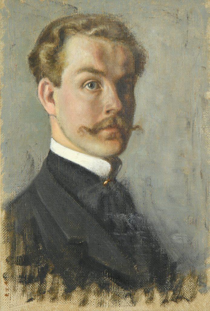 """F. Fībigs """"Pašportrets"""", 1905. gads"""
