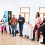"""Māra Upzara gleznu izstādes """"Klusuma meklēšana"""" atklāšana"""