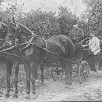 Nurmuižas muižkungs un kučieris izbraukumā, 19. gs. beigas – 20. gs. sākums.
