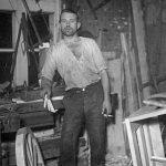 Galdniecības iekšskats Talsos, 1930. gadu beigās.
