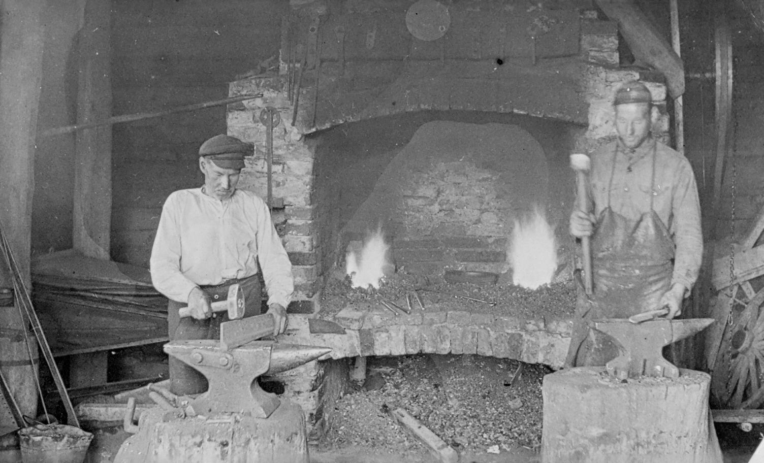 Smēdes iekšskats Nurmuižas pagastā, 1920.–1930. gados.