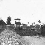 Kaļķu – Dundagas ceļa būve ap 1935. g.