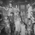 Podnieku darbnīcas iekšskats Talsos, 1930. gados.
