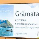 """Gundegas Grīnumas grāmatas """"Viņpus Alpiem"""" atvēršana"""
