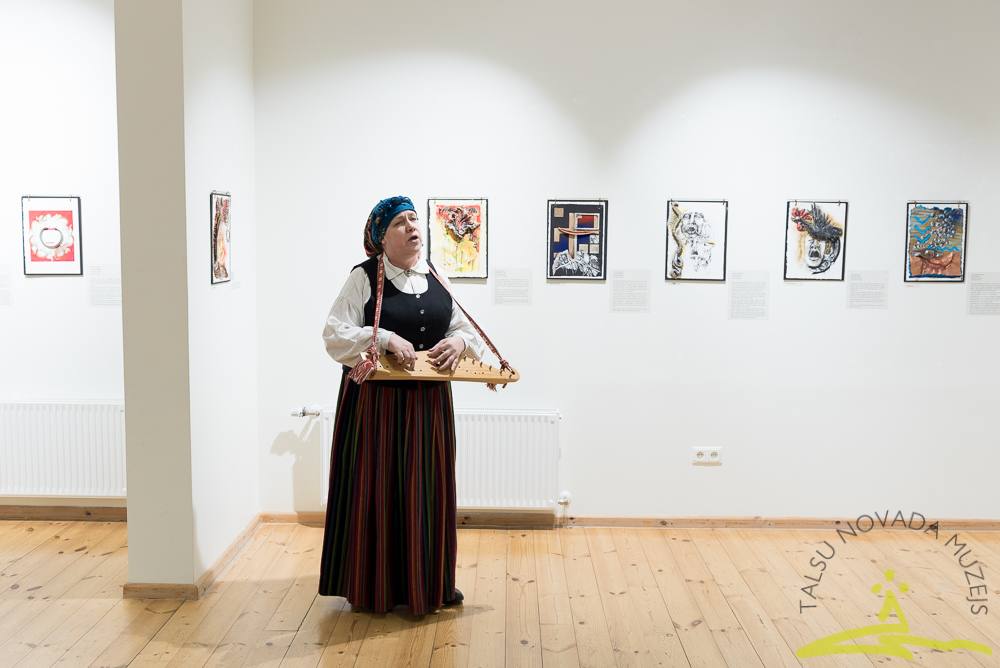 ASV mākslinieces Deboras Lagrasas izstādes atklāšana