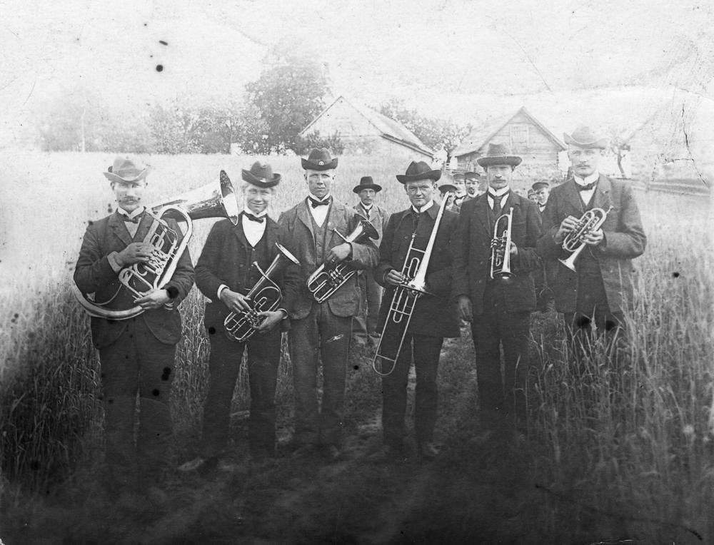 Lauku muzikanti Talsu apkārtnē, 1920. gadi.