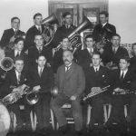 Talsu pūtēju orķestris ar diriģentu Andreju Tīlu, 1933.gads
