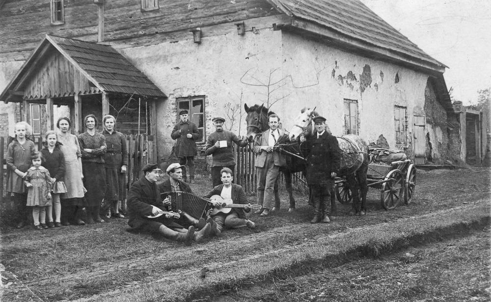 Balle Ģibuļos Krauju mājā ap 1917. gadu