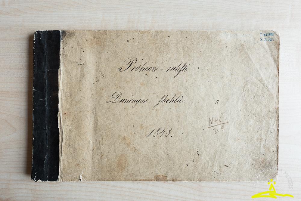 Dundagas skolas Proves raksti 1848. gads