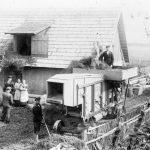Labības kulšana Pūņās 1936. gadā