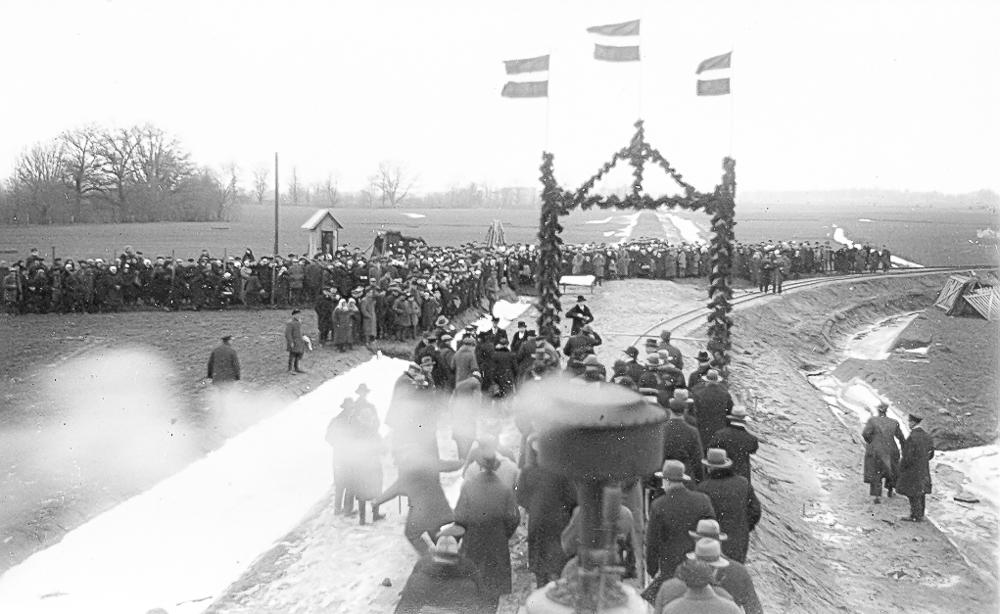 Dzelzceļa līnijas Dundaga - Pope - Ventspils atklāšana 1934. gadā