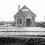 Krepliņu stacijas ēka Vandzenes pagastā 1928. gadā