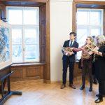 Zviedru-latviešu mākslinieces Marijas Induses-Mucenieces 115 gadu piemiņas izstādes atklāšana