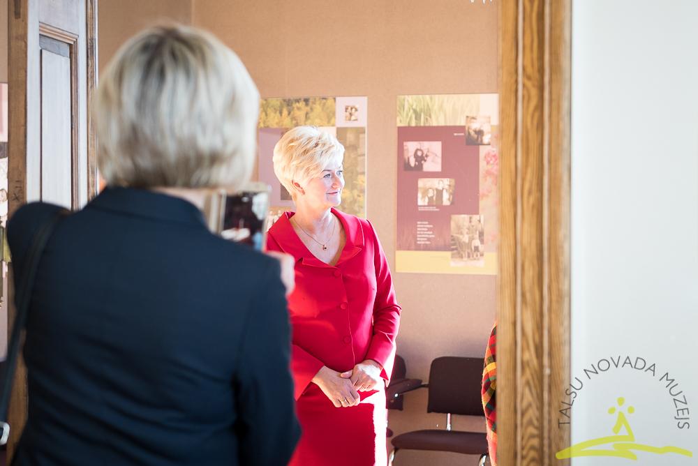 Latvijas Valsts prezidenta kundzes Ivetas Vējones vizīte Talsu novada muzejā