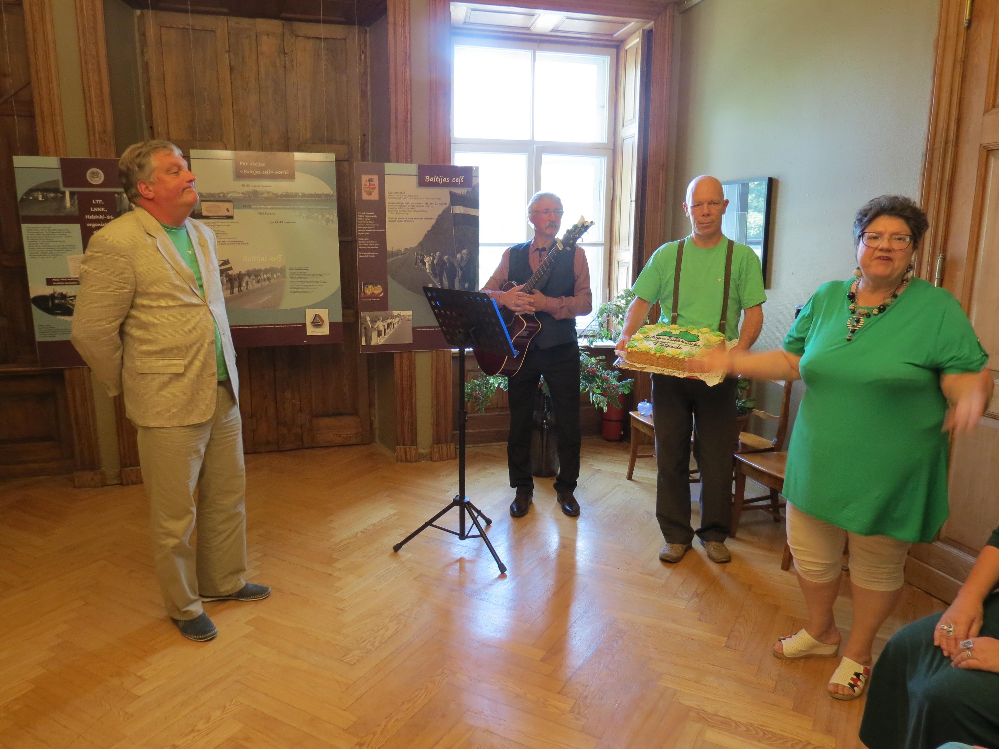 """Sarīkojums """"Latvijas Zaļās kustības aizsākums Talsos"""" 2019. gada 17. augustā."""