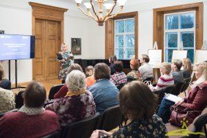 """UNESCO nedēļā """"Spožie prāti: sievietes zinātnē"""" no 15. līdz 20. oktobrim muzejā bija skatāma vēstures speciālistes Kristiānas Skromules veidotā izstāde """"Dora Švīkule - pirmā zaļā dzīves veida cildinātāja""""."""