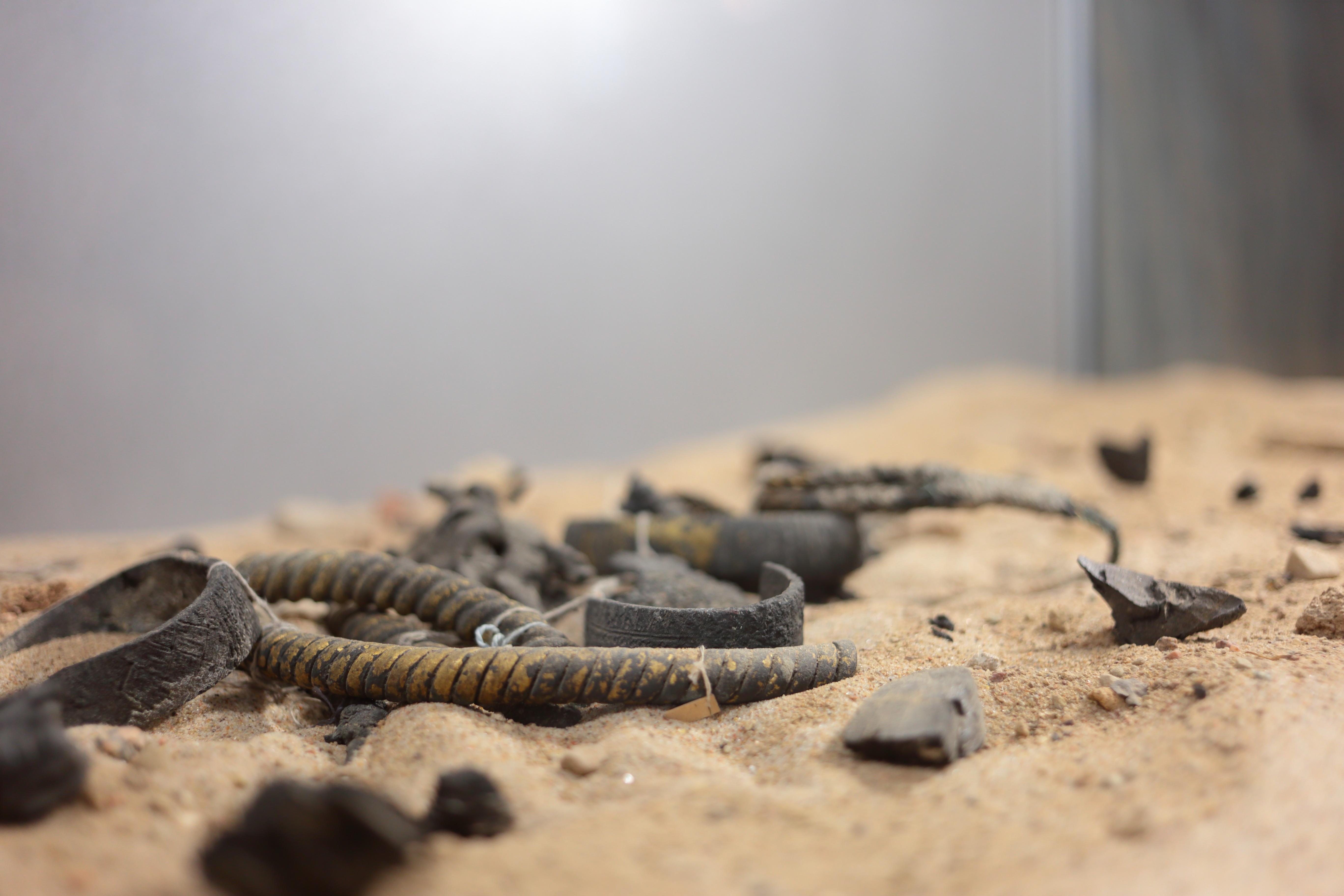 """Arheoloģijas ekspozīcija """"Ceļojums senatnē""""."""