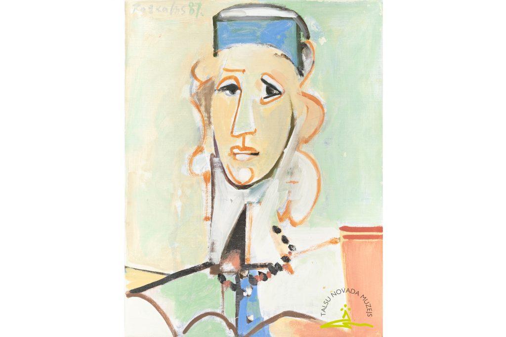 Osvalds Rožkalns, bez nosaukuma, 1987, audekls/eļļa
