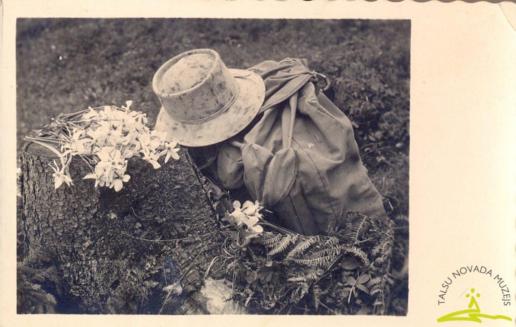 Atklātne sūtīta uz Talsiem. 1940. gads