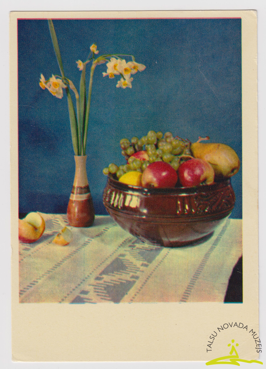 Pastkarte. Sūtīta Braunfeldu un Eglīšu ģimenei Pūņu dzirnavās 20. gs. 60. - 80. g.