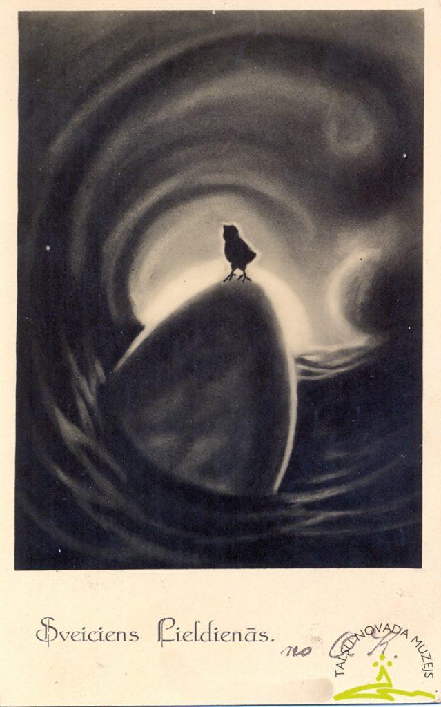 Pastkarte. Apsveikums Lieldienās. 1935.-1938. g.