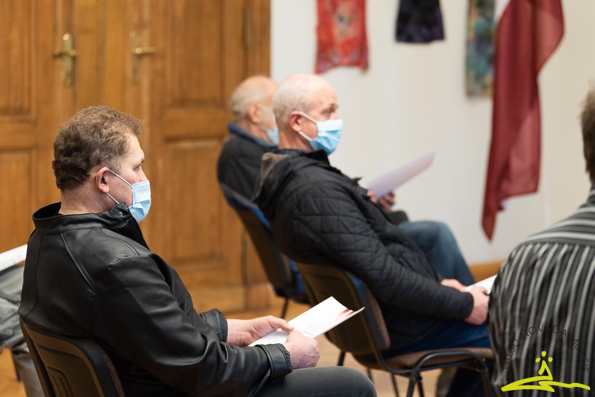2. novembra pasākums, kurā 21 Talsu novada barikāžu dalībnieks saņēma Pateicības rakstu