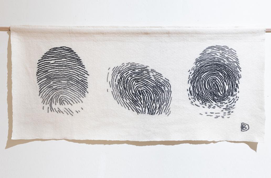 """Dina Baumane """"Identitāte"""". Vilnas vēlums  (tekstilijas foto)"""