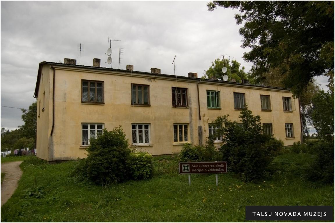 Kādreizējā Lubezeres skola, kur no 1838. -1842. gadam mācījies Krišjānis Valdemārs.