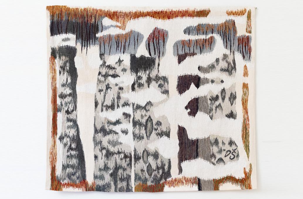 """Daiga Štālberga """"Pirmais sniegs"""". Gobelēns"""