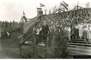 Rainis Talsu Dziesmu svētkos 1927. gada 12. jūnijā.