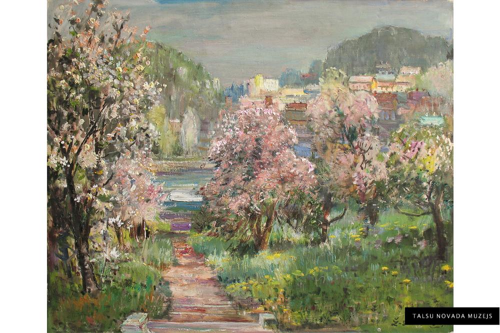 """Žanis Sūniņš """"Dārzs pavasarī"""", 1980. gadi"""