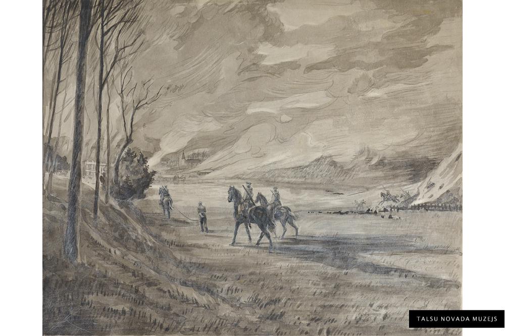 """Žanis Sūniņš """"Soda ekspedīcija Talsos 1905. gada 5. decembrī"""""""