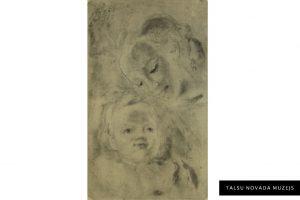 """Marija Induss – Muceniece """"Māte ar bērnu"""". Grafika. Autortehnika. TNMM 27814"""